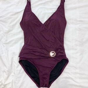 Michael Kors Plum Swimsuit Size 12